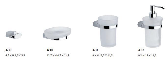 Materiali per bagno